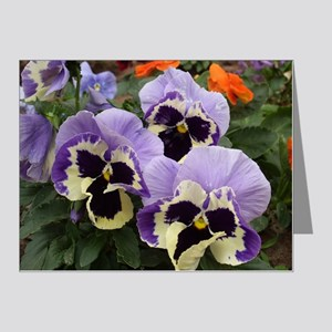 Multi Colored Pansies Note Cards (Pk of 20)