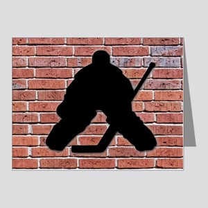 Hockey Goalie Brick Wall Note Cards (Pk of 20)
