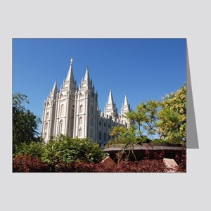 Salt Lake Temple, Plaza View Note Cards