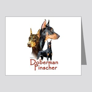 Doberman Pincher-1 Note Cards (Pk of 20)