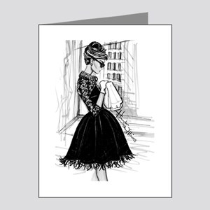 fashion sketch Note Cards