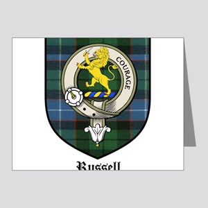 Russell Clan Crest Tartan Note Cards (Pk of 20)