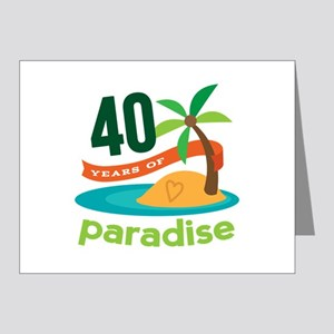 40th Anniversary (Tropical) Note Cards (Pk of 20)