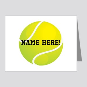 Personalized Tennis Ball Note Cards