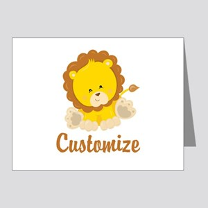 Custom Baby Lion Note Cards (Pk of 20)