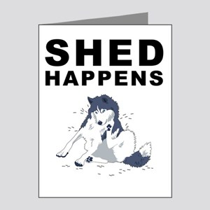 shed_tshirt_light Note Cards (Pk of 20)