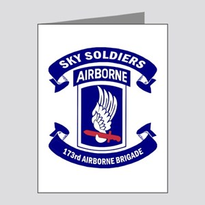Offical 173rd Brigade Logo Note Cards (pk Of 20)
