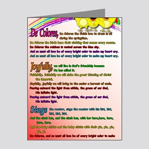 Cursillo DeColores Song Post Note Cards (Pk of 20)