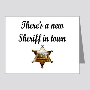 NEW SHERIFF IN TOWN Note Cards (Pk of 20)