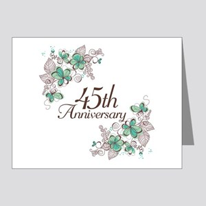 45th Anniversary Keepsake Note Cards (Pk of 20)