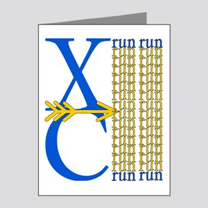 XC Run Blue Gold Note Cards (Pk of 20)