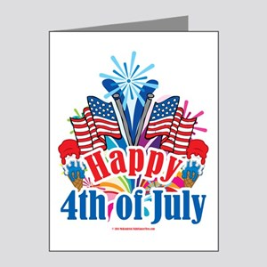 Happy-4th-of-July Note Cards (Pk of 20)