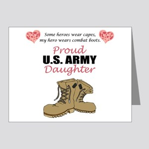 Proud US Army Daughter Note Cards (Pk of 20)