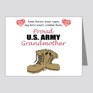 Proud US Army Grandmother Note Cards (Pk of 20)