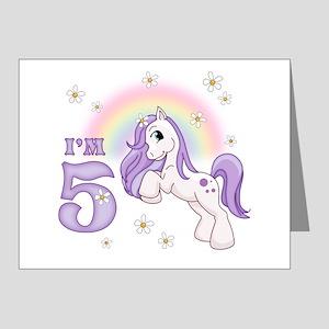 Pretty Pony 5th Birthday Invitations 20 Pk