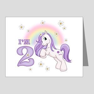 Pretty Pony 2nd Birthday Invitations (Pk of 20)
