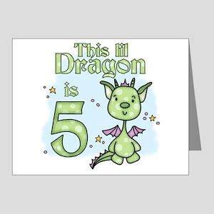 Lil Dragon 5th Birthday Invitations (Pk of 20)
