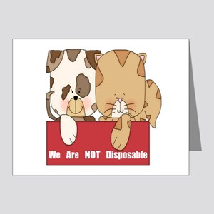 Pets Not Disposable Note Cards (Pk of 20)