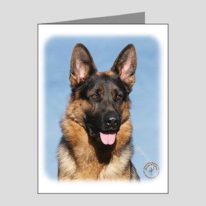 German Shepherd Dog 9Y554D-150 Note Cards (Pk of 2