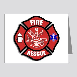 Fire Rescue Note Cards
