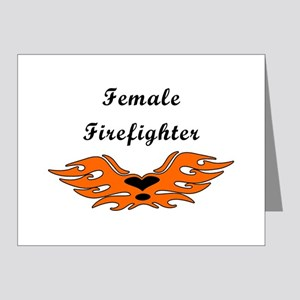 Female Firefighting Note Cards (Pk Of 20) Note Car