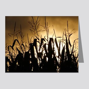 Corn field silhouettes Note Cards (Pk of 20)