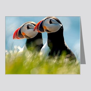 Puffin Pair 14x14 600 dpi Note Cards (Pk of 20)