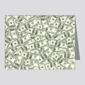 100 Dollar Bill Pattern Note Cards (Pk of 20)