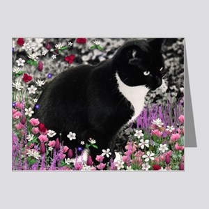 Freckles the Tux Cat in Flow Note Cards (Pk of 20)