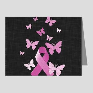 Pink Awareness Ribbon Note Cards (Pk of 20)