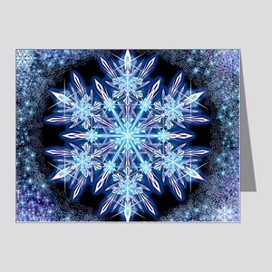 October Snowflake - square Note Cards (Pk of 20)