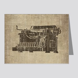 Vintage Typewriter Note Cards (Pk of 20)
