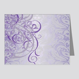Vintage Rococo Purple Damask Note Cards (Pk of 20)
