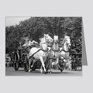 Fire Department Horses Note Cards (Pk of 20)