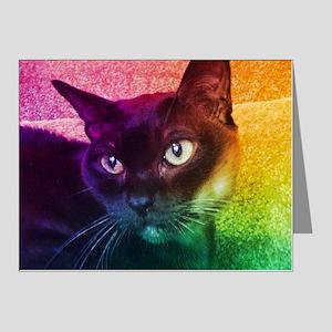 Burmese Cat Portrait B Note Cards (Pk of 20)