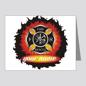 Personalized Fire and Rescue Note Cards (Pk of 20)