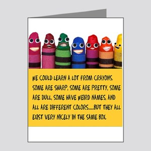 Peaceful Crayons Note Cards (Pk of 20)
