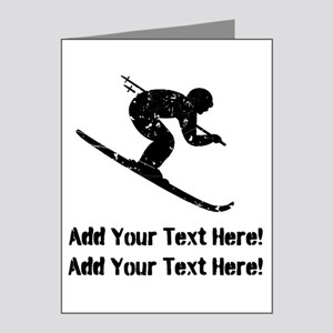 Personalize It, Skier Note Cards (Pk of 20)