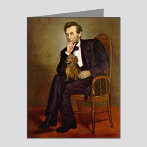 Lincoln's Dachshund Note Cards (Pk of 20)