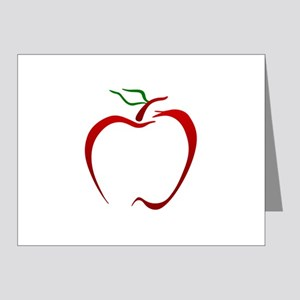 Apple Outline Note Cards