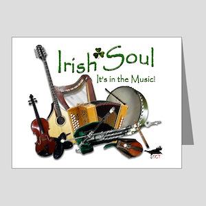 IRISH-SOUL-B Note Cards (Pk of 20)