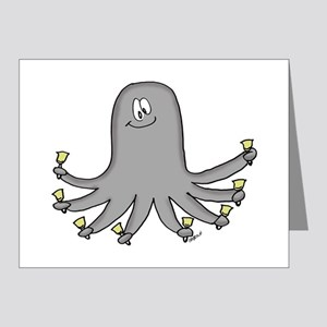 Octopus Handbells Note Cards (Pk of 20)