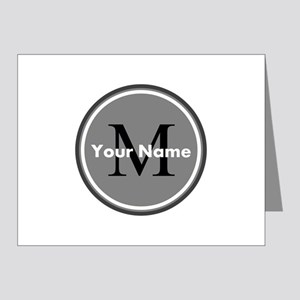 Custom Initial And Name Note Cards