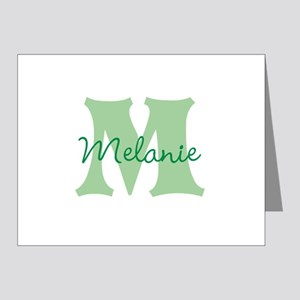 CUSTOM Green Monogram Note Cards
