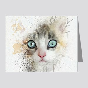 Kitten Painting Note Cards