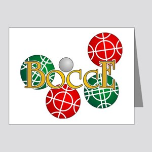 bocce1b Note Cards (Pk of 20)