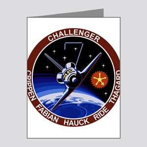 STS 7 Challenger Note Cards (Pk of 20)
