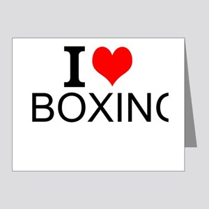I Love Boxing Note Cards