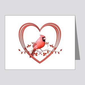 Cardinal in Heart Note Cards (Pk of 20)