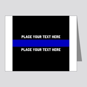 Thin Blue Line Customized Note Cards (Pk of 20)